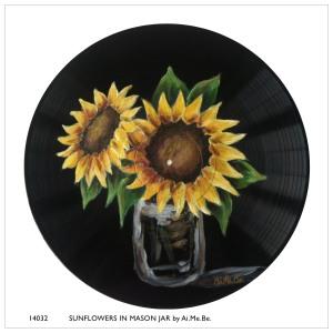 14032_Sunflowers in Mason Jar